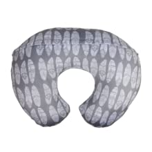 infant baby newborn pillow cover slipcover gray white feathers girls boys unisex cute soft minky