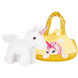 handtasche, brubaker, kleines einhorn, unicorn, rainbow unicorn, kuscheltier, knuddeltier
