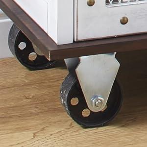 Non-swivel wheels