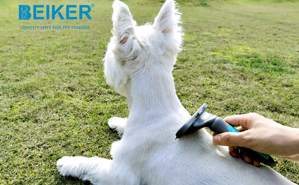 dog deshedding brush for dogs and cats