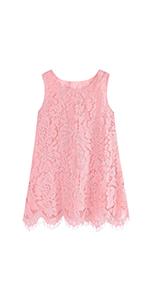 girls lace dress with sleeveless