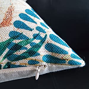 throw pillow cover zipper