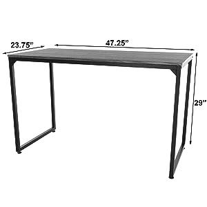 zenvida simple desk dimensions