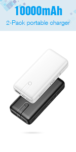 10000mAh 2 Pack Portable Charger