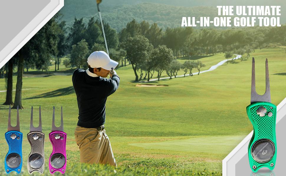 golf golfer tool divot ball marker club