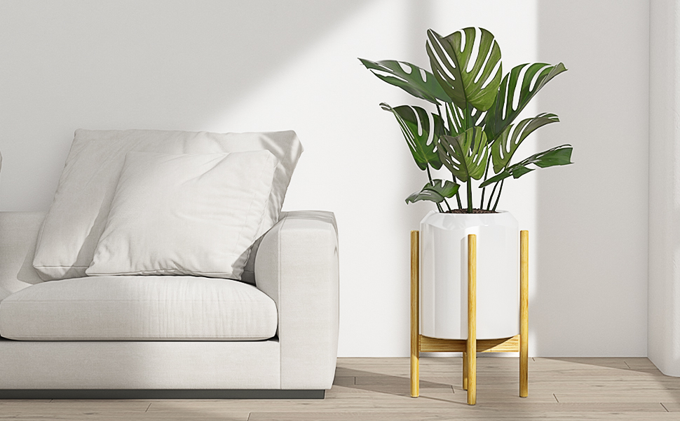 Indoor Plant Stand at the Corner for Living Room