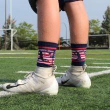 Boys Youth USA Flag Football Socks