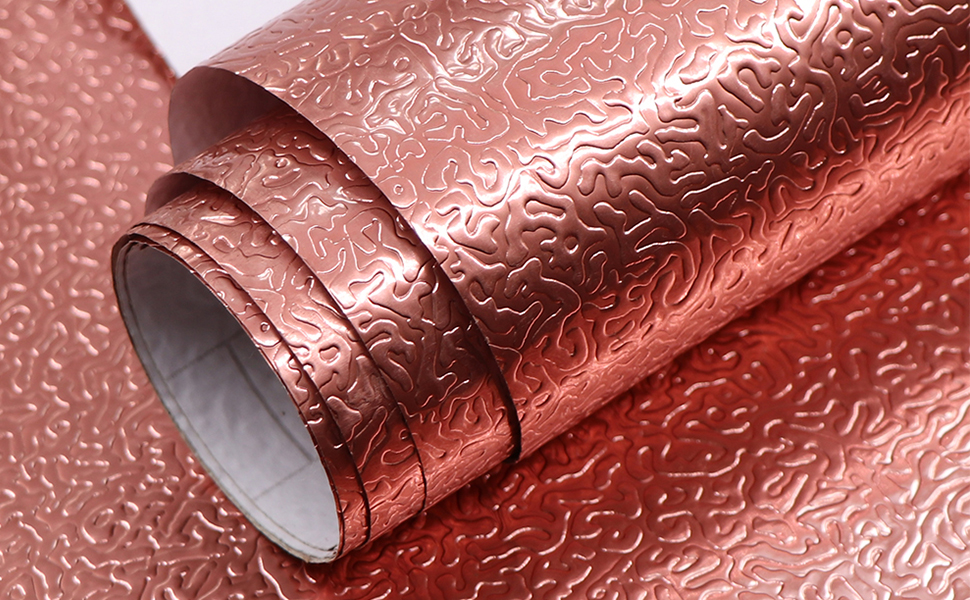 Oil Proof Aluminum Foil Sticker Kitchen Floral Wall Paper Home Decor Wall Cover