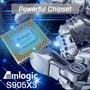 Amlogic S905X3 64-bit quad core ARM Cortex A55 CPU