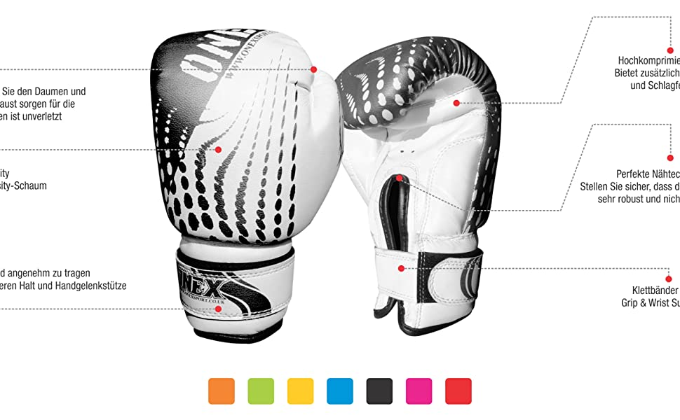 4oz ONEX Boxhandschuhe f/ür Kinder Training Sparring Muay Thai Kickboxen Sand Sack Junior Boxing Gloves Kampfsport 2oz