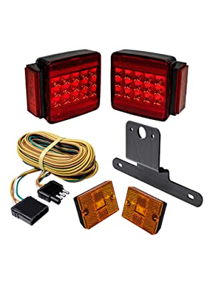 "LED Trailer Light Kit For Trailers Under/Over 80"" Wide"