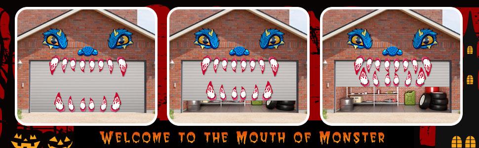 Garage Door Monster Face