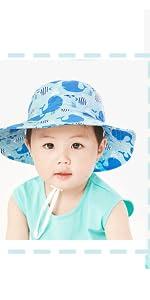 Cappello di Protezione Solare Anti-UV Sole Bambino Neonati Piccolo Bambini 50+ Adattabile