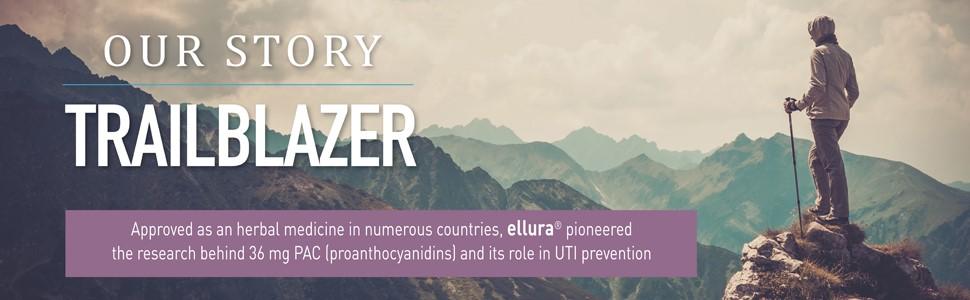 ellura UTI prevention_trailblazer_36 mg PAC cranberry supplement