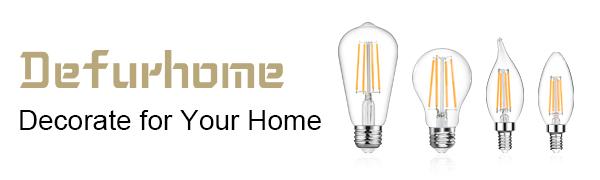 defurhome led bulbs e26 medium base