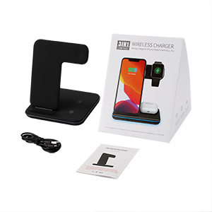 Package  Any Warphone 3 in 1 Wireless Charging Stand for Latest Airpods iPhone and iWatch, Compatible for iPhone 11 Pro Max/X/XS Max/8 Apple Watch Charger 5/4/ 3/2 /1 Airpods 2/3 3e316374 5422 4716 8adc 90d15332449e