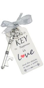 key for wedding key opener bottle key opener favor key opener skeleton bottle