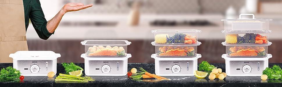 Idéal pour cuire viandes, poissons, légumes, pommes de terre, couscous sans matière grasse