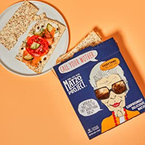 Matzo Flats Everything Crackers Bread Chips Kosher Nut Free Dairy Free No Artificial Ingredients