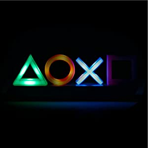 Playstation Icons light phasing through colors  Paladone Playstation Icons Light with 3 Light Modes – Music Reactive Game Room Lighting 3e376cb9 94e6 488b afad 0d66bbd0f483