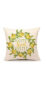 farm house spring summer fall yellow decoration outdoor indoor travel holiday 45x45 happy cute