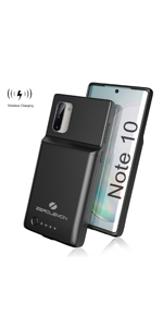 Galaxy Note 10 5000mAh Battery Case Wireless Charging