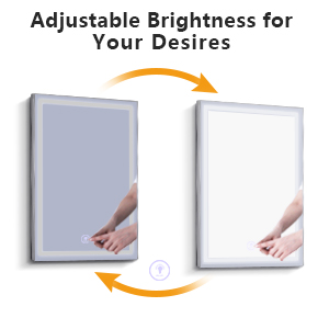 Dimmable LED Bathroom Wall Mounted Makeup Mirror