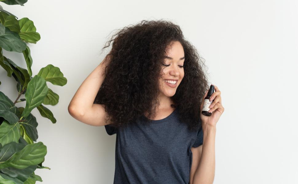 hair shine spray hair mist hair oil spray refresher moisturizer hydrating coconut oil anti frizz