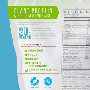 plant protein with fiber mct, pea protein vegan plant protein powder