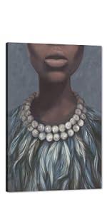 Black women wall art