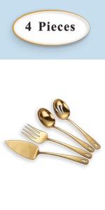 golden serving set