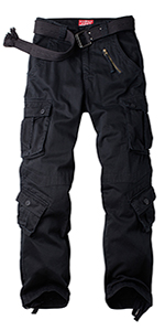 Men's Tactical Military Cargo Pants BDU Wild Camo Cotton Casual Relaxed Fit Cargo Pants Big and Tall