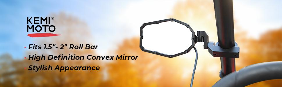 UTV side mirrors with lights