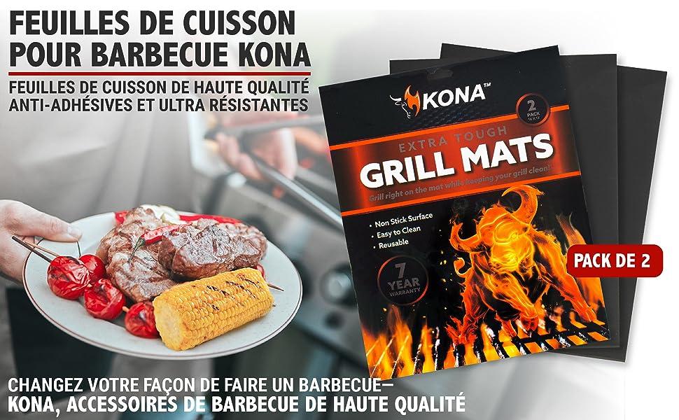 Feuilles de Cuisson pour Barbecue KONA. Changez votre façon de faire un barbecue