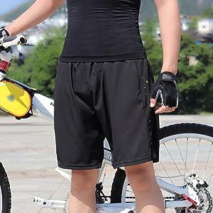 LIZHOUMIL Herren und Damen 3D Radhose Atmungsaktiv Gepolstert Fahrrad Unterw/äsche Shorts Orange XL