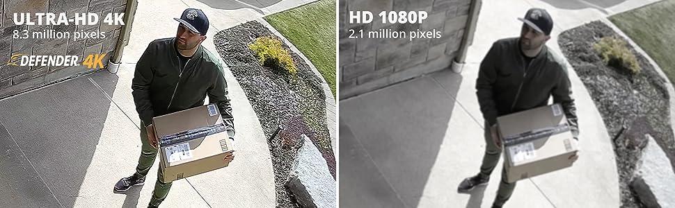 4K / HD Comparison Image
