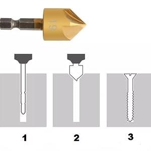 Y-imoi Flute Countersink Drill Bit Set
