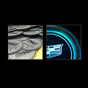 2 Pcs Super LED Car Cup Holder Lights