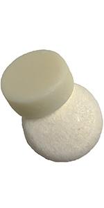 white shampoo & conditioner bars