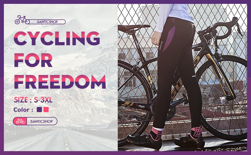Santic Culote Ciclismo Mujer Culote Bicicleta Pantalones Largos de ...
