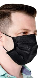 Disposal Face Mask 50-Pack (Black)