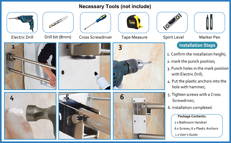shower hand rail