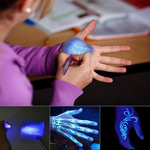 DazSpirit 1 Stück Geheimstift mit UV-Licht Lesbar durch Licht UVStift Unsichtbar