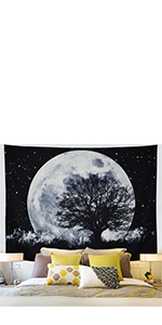 Moon Stars Tapestry