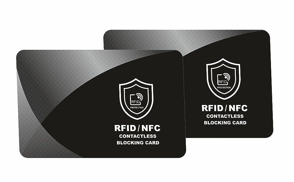 protecci/ón de NFC contra la lectura ilegal de los chips RFID en pasaportes electr/ónicos Funda para pasaporte de Hama