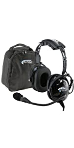 Rugged Air RA200 Aviation Headset with Headset Bag