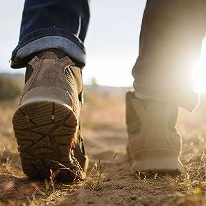 man walking on plains