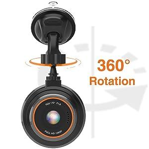 360 rotation dash cam