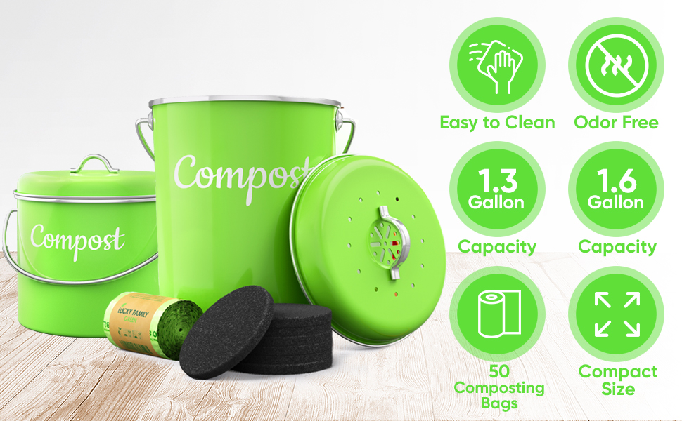 compost pail for kitchen