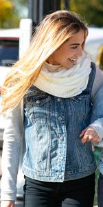 warm knit winter infinity scarf